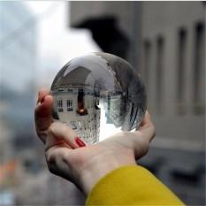 Hình ảnh 40-120mm Clear K5 Crystal Photography Lens Ball Photo Prop Background Home Decor # 80mm - intl
