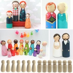 40 Pcs Solid Hardwood Natural Unfinished Wooden Peg Doll Bodies Boy Style For Diy Arts And Crafts Pcs Solid Hardwood Natural Unfinished Wooden Peg Doll Bodies Boy Style For Diy Arts And Crafts - Intl By Jelly Store.