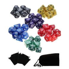 Hình ảnh 42pcs Polyhedral Dice 8 Sets For Dungeons And Dragons DND RPG MTG Board Games - intl