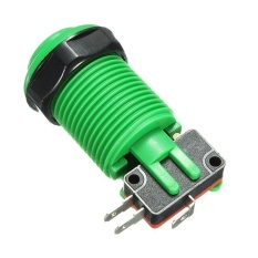 Hình ảnh 4pcs New Arcade Push Buttons Durable Multicade MAME Jamma Game Long Switch Green - intl