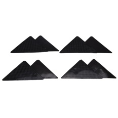 4pcs/Set Triangular Non-Slip Mats Fixed Carpet Silicone Bath Living Room Anti-Skid Pads - intl