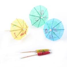 Hình ảnh 50pcs Colorful Drink Fruit Cake Sticks Picks Party Club Decorations Parasol Umbrella - intl