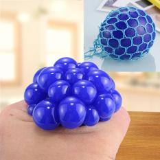 Hình ảnh 5cm Anti-Stress Face Reliever Grape Ball Extrusion Mood Squeeze Relief Healthy Funny Tricky Vent Toy with Hanging Ring (Blue) - intl