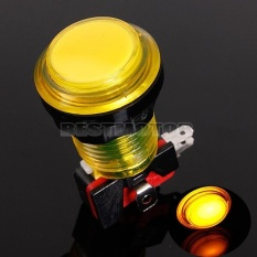 Hình ảnh 5x Arcade Video Game Round Push Button LED Lighted Illuminated Lamp 5 / 12v (Yellow) - intl