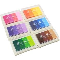 Hình ảnh 6 cái Cầu Vồng Gradient Màu Miếng Lót Inkpad In Thủ Công Tem Giấy Gỗ Vải Trẻ Em Vân Tay Họa Tiết CHỮ- quốc tế