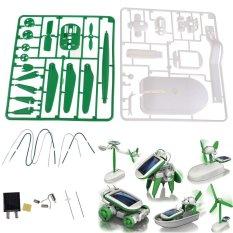 Hình ảnh 6In1 Educational Solar Robot Kits Solar Windmill Airboat Plane Car DIY Set - intl