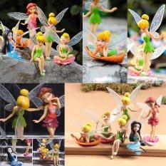 Hình ảnh 6 cái Tinker Bell Tiên Nữ Công Chúa Nhân Vật Bánh Trang Trí đồ Búp Bê NHỰA PVC Trẻ Em Đảng Đồ Chơi-quốc tế