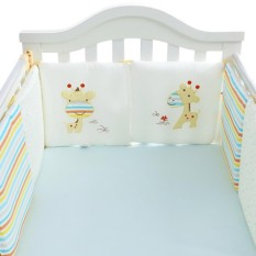 6PC/Set Baby Infant Cot Crib Bumper Safety Protector Toddler Nursery Bedding Pad - intl