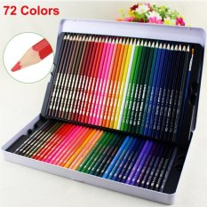 Hình ảnh 72 Colored Pencils Premium Art Drawing Water Sketching Soft Core Lead Set & Case - intl