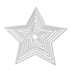 Hình ảnh 8 PCS Assorted Sizes Carbon Steel Star Embossing Cutting Dies Stencils Templates Mould Set for DIY Scrapbooking Album Paper Card - intl