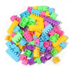 Hình ảnh 80Pcs Plastic Children Kid Puzzle Educational Building Blocks Bricks Toy Animal - intl