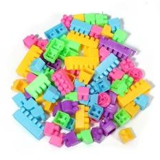 Hình ảnh 80Pcs Plastic Children Kid Puzzle Educational Building Blocks Bricks Toy Animal - intl