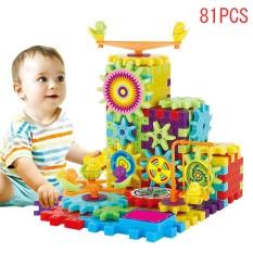 Hình ảnh 81 Pieces Electric Gears 3D Puzzle Building Kits Plastic Bricks Educational Toys For Kids Children Gift - intl