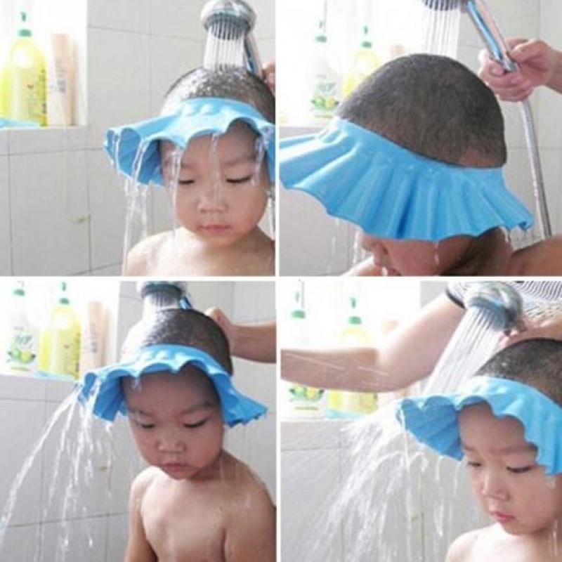 Có thể điều chỉnh Cho Bé Con Trẻ Em Dầu Gội Tắm Trai Nón Rửa Tóc Shield-quốc tế