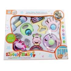 Hình ảnh Ai Home 7Pcs Baby Girl Colorful Models Handbell Bundle Lovely Rattles Toys (Multicolor) - intl