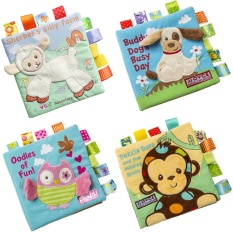 Hình ảnh Animal Embroidery Cloth Book Puzzle Book Cubes Baby Cloth Book Geography Learning & Education Book - intl