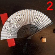 Antique Folding Female Fan Classical Mixed Decoration Home Furnishing Type : 2 - intl