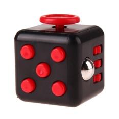 Hình ảnh Lo âu Con Quay Giảm Stress Fidget Cube Đồ Chơi Xếp Hình Khối Fidget Đồ Chơi (Đen)-quốc tế