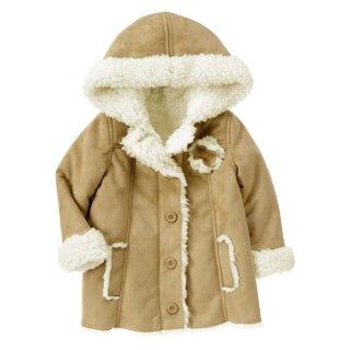Áo khoác dạ lót lông cừu có mũ Crazy8 34603 (Be) thumbnail