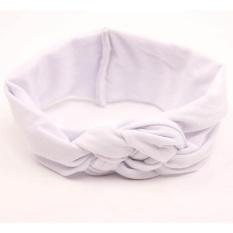 Hình ảnh Baby Girl Knotted Hair Band White - intl
