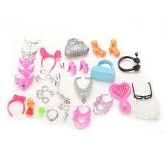 Túi Vòng Cổ Combo Giày Cho Búp Bê Barbie-quốc Tế Siêu Tiết Kiệm