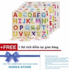 Hình ảnh Bảng ghép chữ cái bằng gỗ có núm + Tặng kèm 1 thẻ tích điểm tại KoreaStore