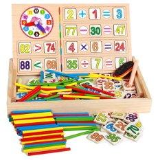 Hình ảnh Bảng gỗ 2 mặt dạy bé học toán