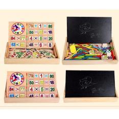 Hình ảnh Bảng gỗ 2 mặt dạy bé học toán dễ dàng hơn siêu tiện dụng