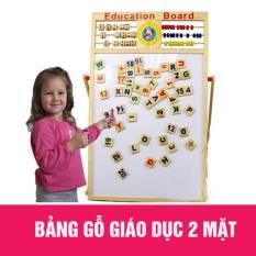 Hình ảnh Bảng gỗ nam châm giáo dục 2 mặt cho bé học chữ cái