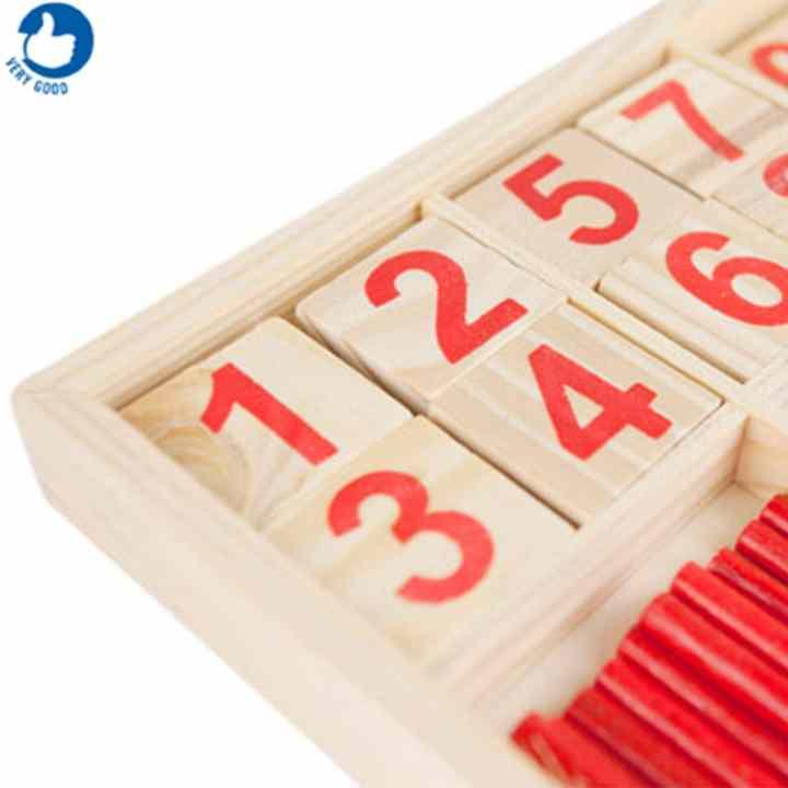Bảng gỗ que tính và chữ số cho bé