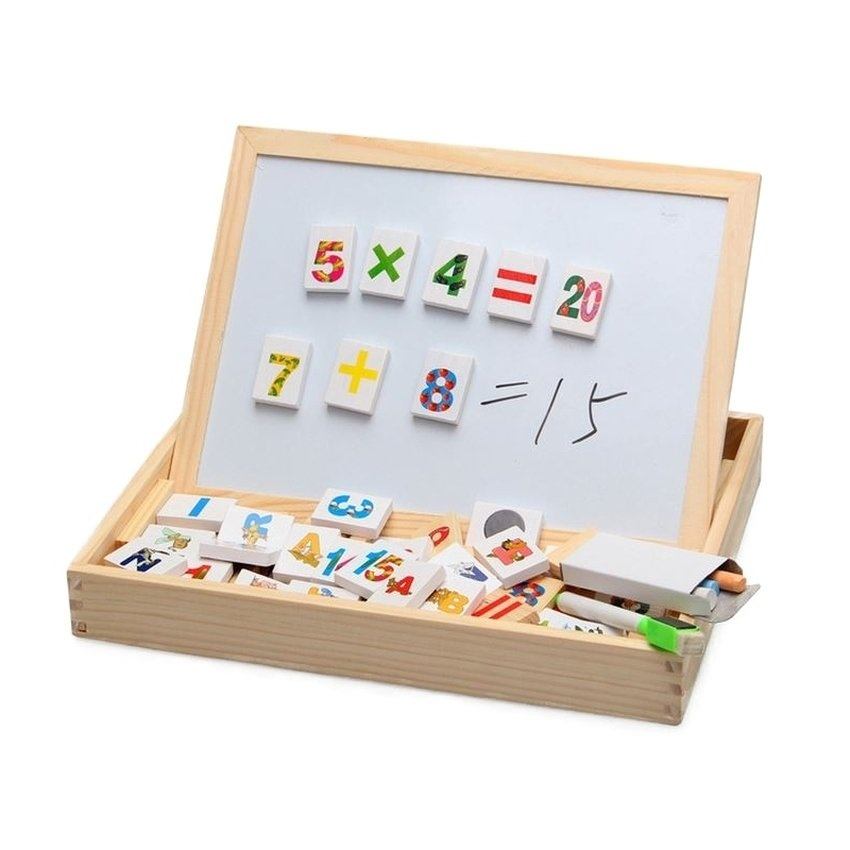 Hình ảnh Bảng học chữ và số đa năng Baby IQ cho bé (Vàng nhạt)