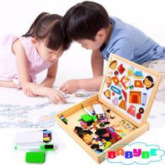 Hình ảnh Bảng Nam Châm 2 Mặt Kèm Bộ Ghép Hình Cho Bé Babybe