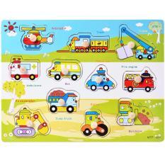 Hình ảnh Bảng nhận biết phương tiện giao thông núm gỗ