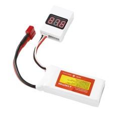 Hình ảnh BBX1-8S Low Voltage 3.6-32V LED Volt Tester Buzzer Alarm Volt Checker - intl