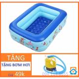 Bể Bơi Chữ Nhật Tặng Bơm Hơi Cho Trẻ Smart Store 120 X 85 X Cao35Cm Hà Nội