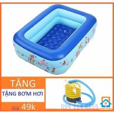 Giá Bán Bể Bơi Chữ Nhật Tặng Bơm Hơi Cho Trẻ Smart Store 120 X 85 X Cao35Cm Oem Tốt Nhất
