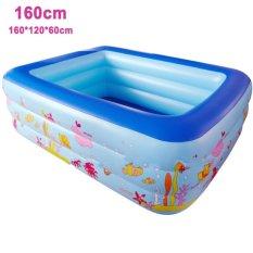 Mua Bể Bơi 3 Tầng Size 160X120X60Cm Tặng Kinh Bơi Trẻ Em Silicon Xanh Dương