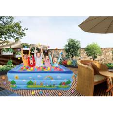 Cửa Hàng Bể Bơi Phao 3 Tầng Cho Be Size To 180X140X60Cm Mẫu Mới 2017 Xanh Dương Tặng Kinh Bơi Trẻ Em Silicon G 2012 Rẻ Nhất