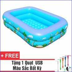 Hình ảnh Bể Bơi Phao Cho Bé 120cm + Tặng 1 Quạt USB tiện dụng