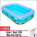 Mua Bể Bơi Phao Cho Be 120Cm Tặng 1 Quạt Usb Tiện Dụng Rẻ