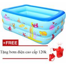 Giá Bán Bể Bơi Phao Cho Be Yoyo 150 110 50 Cm Tặng Bơm Điện Cao Cấp Giao Mau Ngẫu Nhien Mới