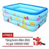 Giá Bán Bể Bơi Summer 3 Tầng Cho Be Loại 160Cmx120Cmx60Cm Tặng Bơm Điện Xanh Rẻ Nhất