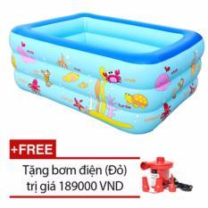Chiết Khấu Bể Bơi Summer 3 Tầng Cho Be Loại 160Cmx120Cmx60Cm Tặng Bơm Điện Xanh Benhome Trong Hà Nội
