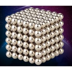 Hình ảnh Bi nam châm xếp hình 5mm (216 viên) màu bạc Bucky balls