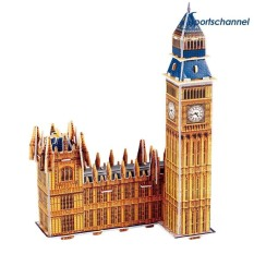 Hình ảnh Big Ben Model 3D Puzzle DIY Jigsaw Children Kids Educational Toys Gifts - intl