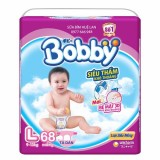 Bán Bỉm Ta Dan Bobby Cỡ L Bịch 68 Miếng Cho Be 9 13 Kg Rẻ