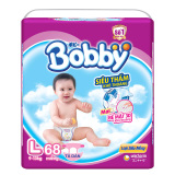 Cửa Hàng Bỉm Ta Dan Bobby Size L 68 Miếng Cho Be 9 13Kg Bobby Trong Hà Nội