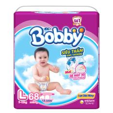 Chiết Khấu Bỉm Ta Dan Bobby Size L 68 Miếng Cho Be 9 13Kg Bobby Hà Nội
