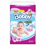 Giá Bán Bỉm Ta Dan Bobby Size M Sieu Thấm 48 Miếng Cho Be 6 10Kg Nguyên