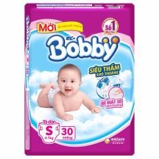 Bán Bỉm Ta Dan Bobby Size S Sieu Thấm 30 Miếng Cho Be Dướii 7Kg Nhập Khẩu